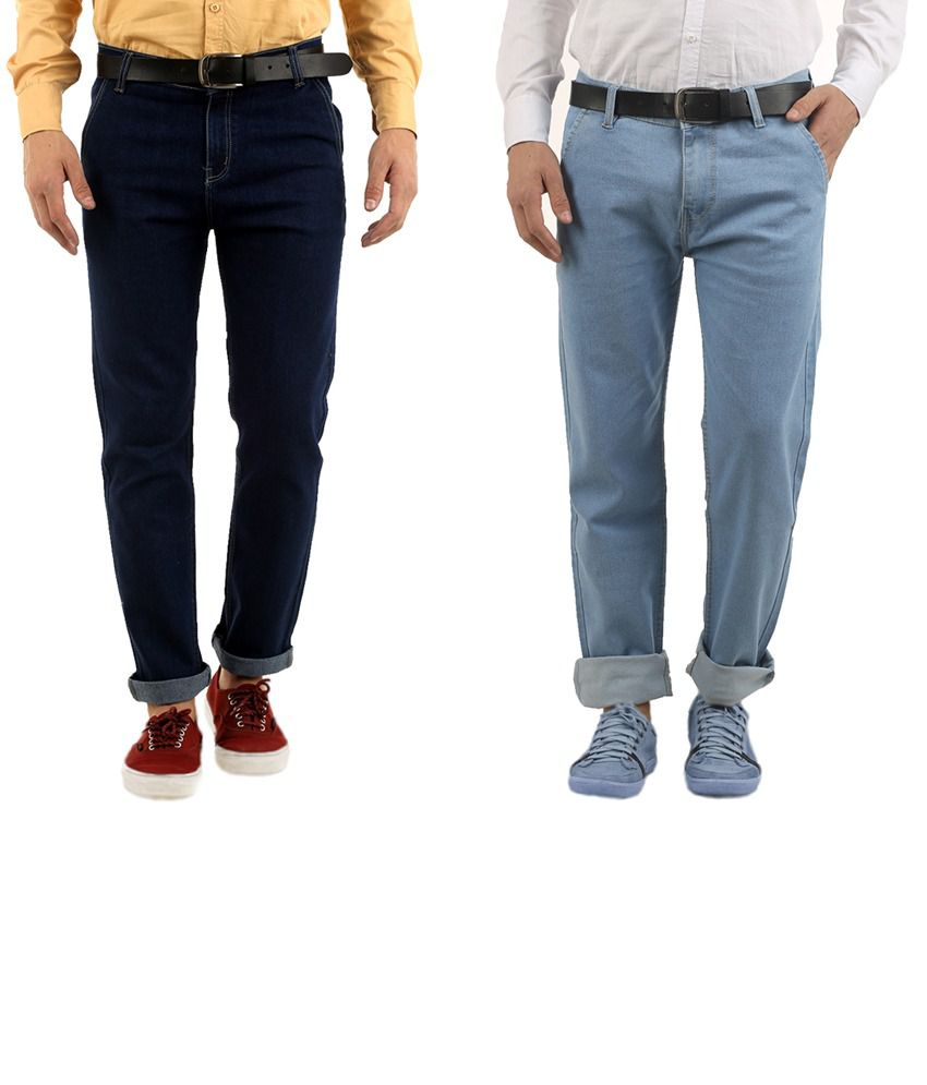 Western Texas 96 Multicolor Cotton Blend Regular Fit Jeans - Pack of 2