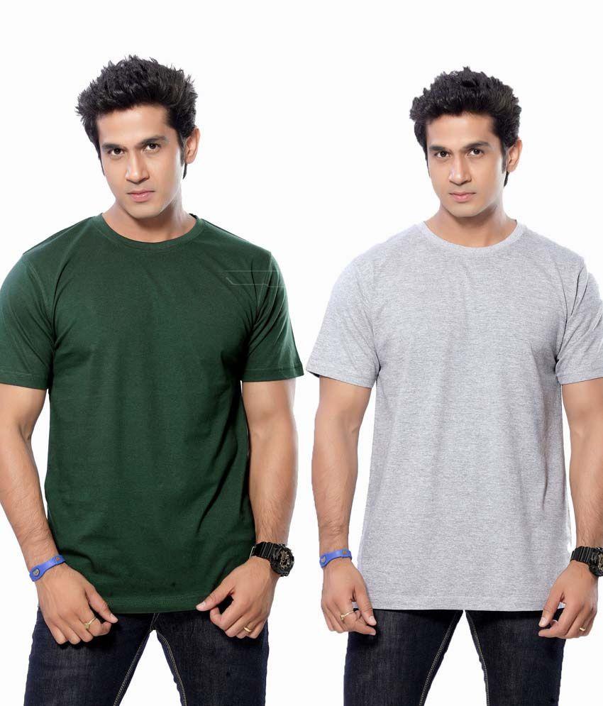 BMC Multicolour Cotton Round Neck T-shirt - Pack Of 2