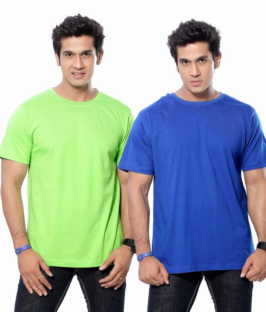 BMC Multicolour Cotton Round Neck T-shirt - Pack Of 2