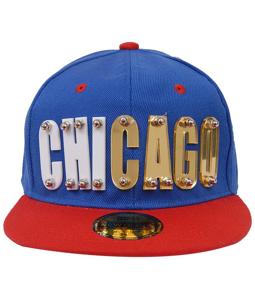 Jorss Blue and Red Chicago Hiphop Yoyo Baseball Cap