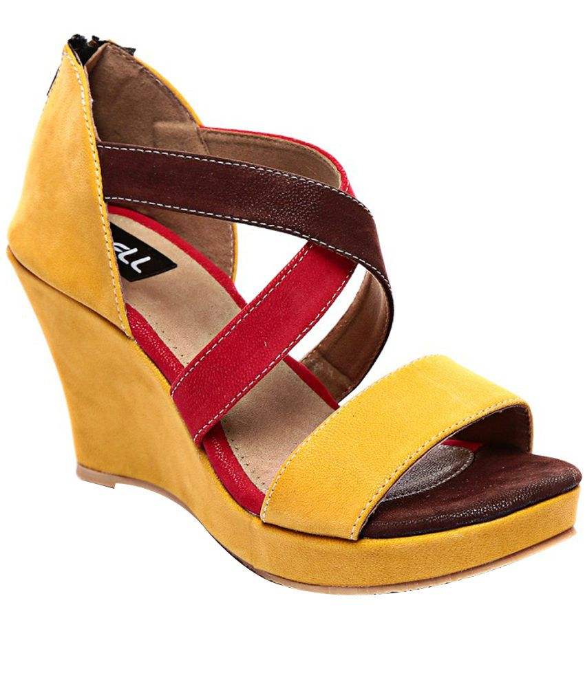 Nell Yellow Heeled Sandals