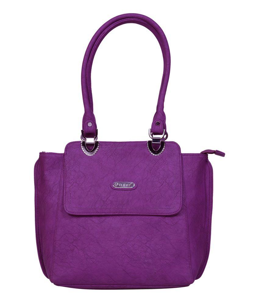Elimier Purple Shoulder Bag