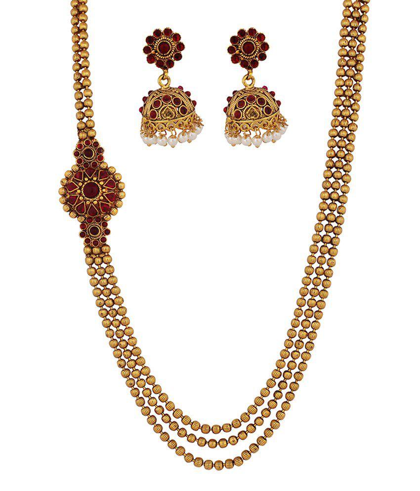 Kushi Stunning Gold Plated Necklace Set
