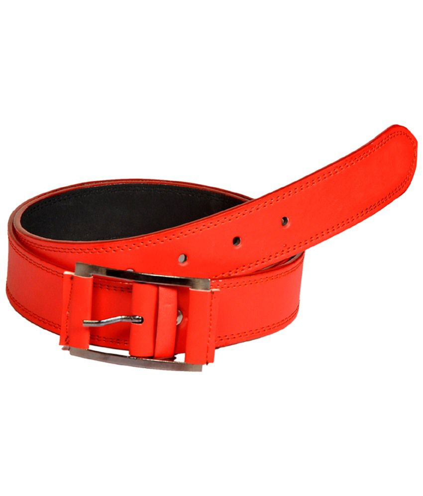 Style Ambience Red Casual Belt