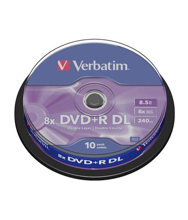 Verbatim Dvd+R DL 8.5Gb 8X 10Pk Spindle