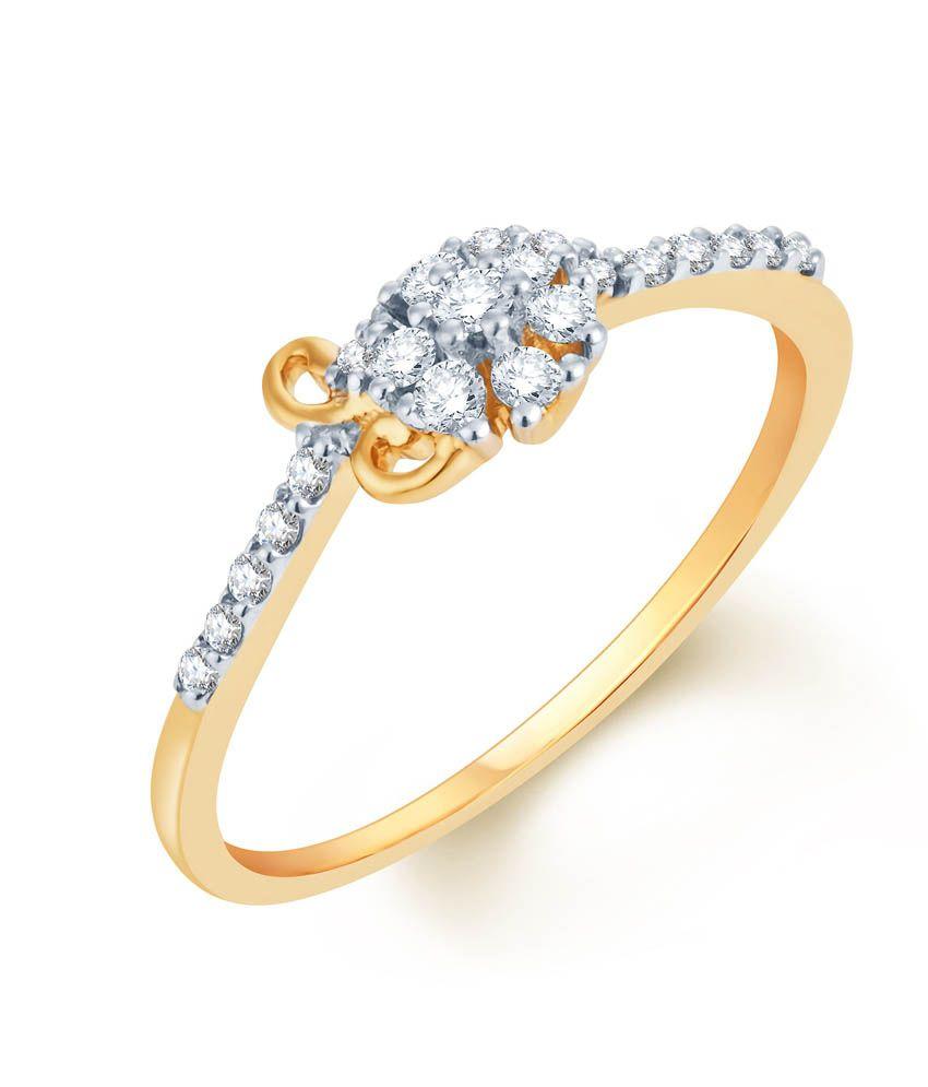 KaratCraft 18Kt Gold Traditional Diamond Ring