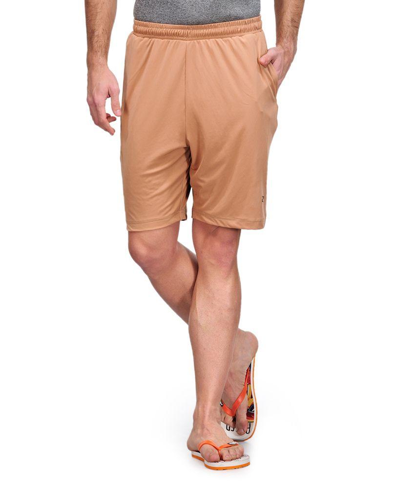 Dazzgear Beige Polyester Solids Shorts