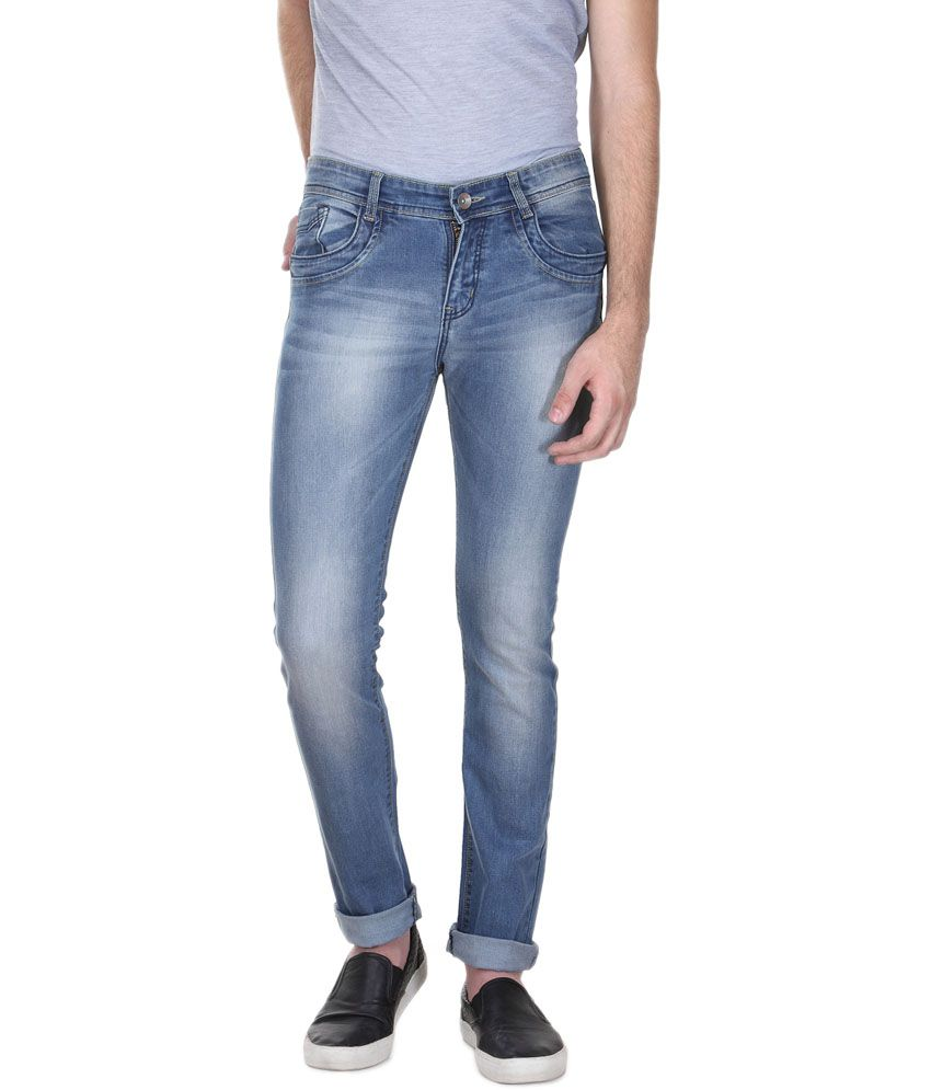 Fever Blue Denim Lycra Light Slim Jeans