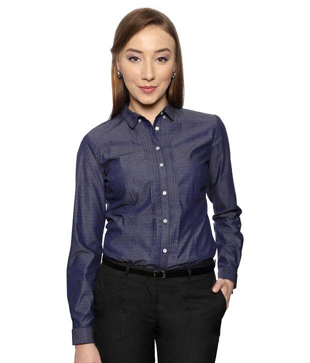 Van Heusen Woman Purple Cotton