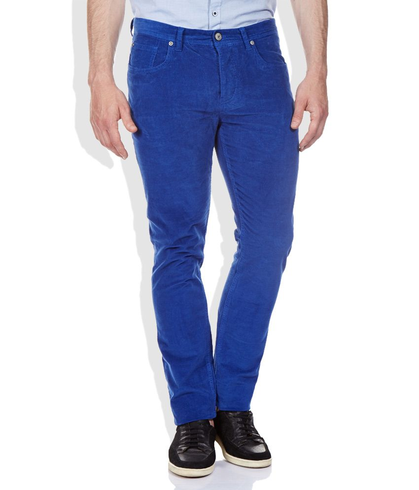 Being Human Blue Slim Fit Chinos