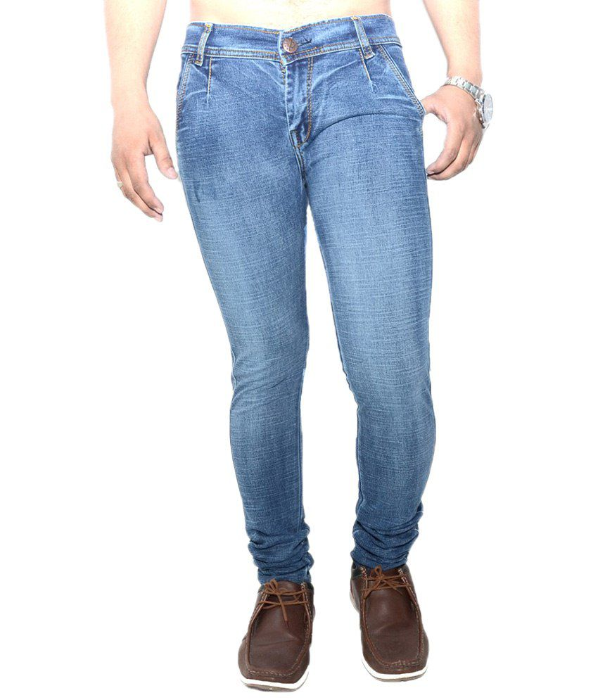 Nation Mania Eye Catching Blue Jeans For Men