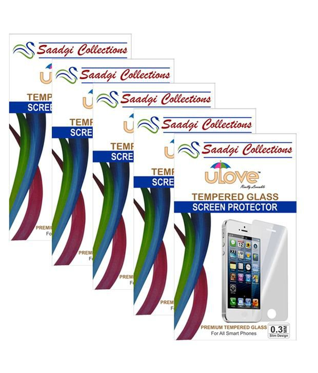 Apple Iphone 6 Plus ( Combo Pack 5 ) Tempered Glass Screen Guard by Saadgi Collections