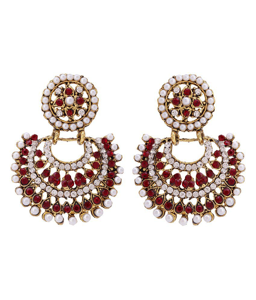 Sanjog Gorgeous Rajwada Style Earring for Wedding and Party For Gifting-Pack Of 2 Pairs