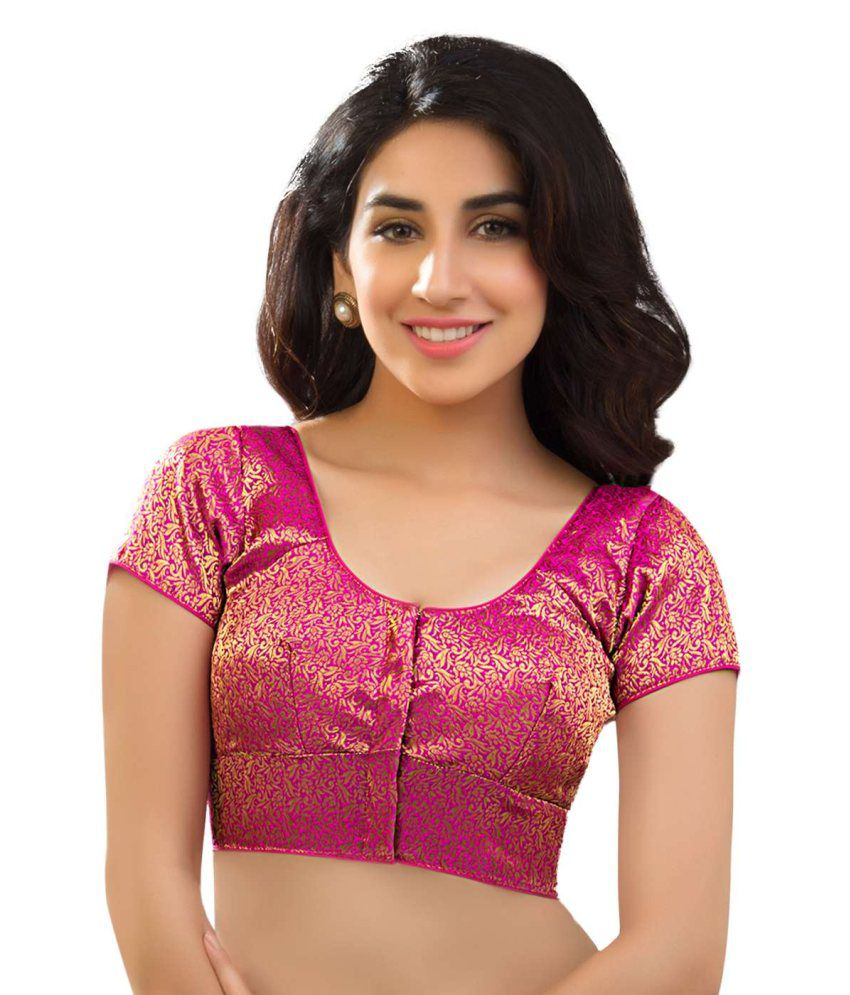 3e495d2276e28 Vamas Pink Brocade Blouse - Buy Vamas Pink Brocade Blouse Online at Low  Price - Snapdeal.com