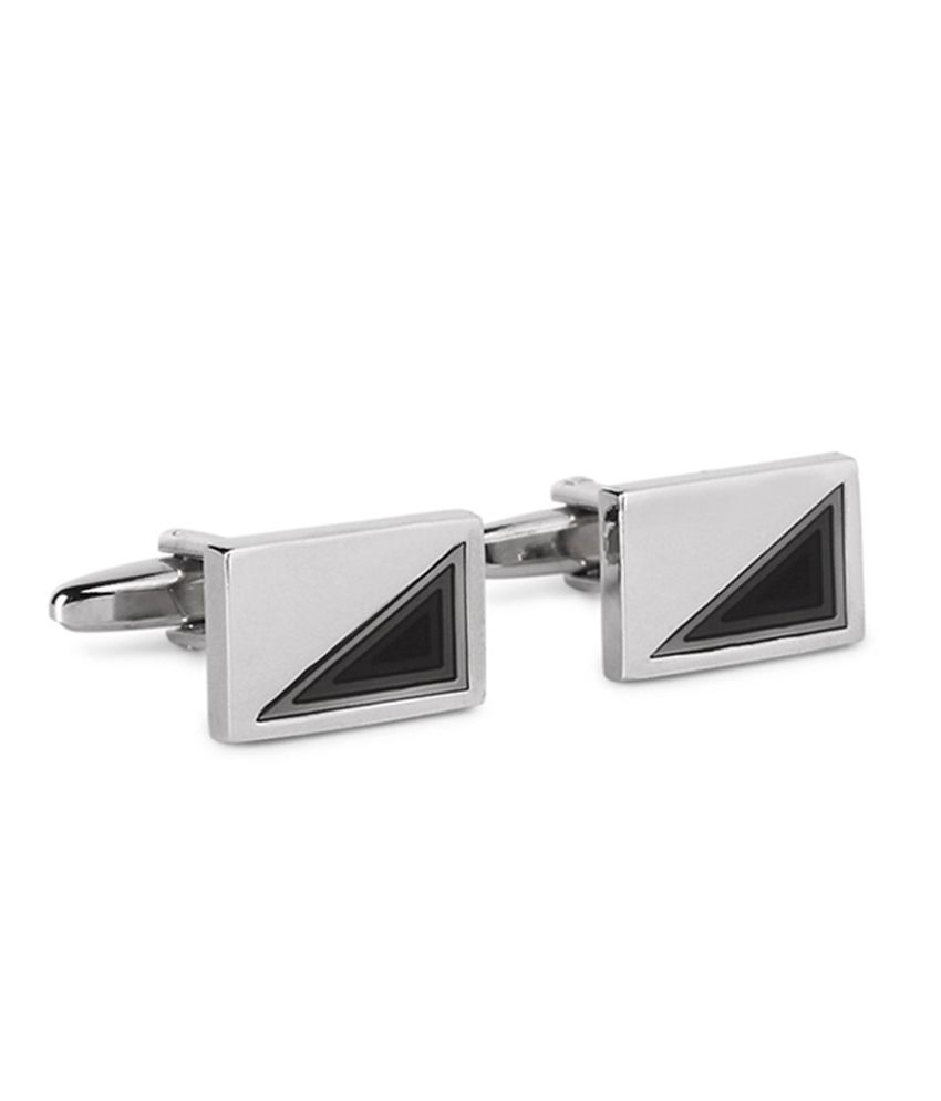 Van Heusen Grey Rectangular Cufflinks
