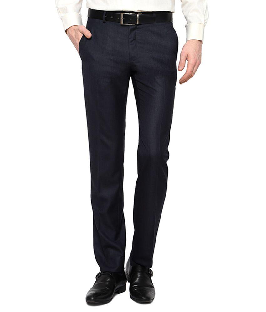 Van Heusen Navy Formal Trousers