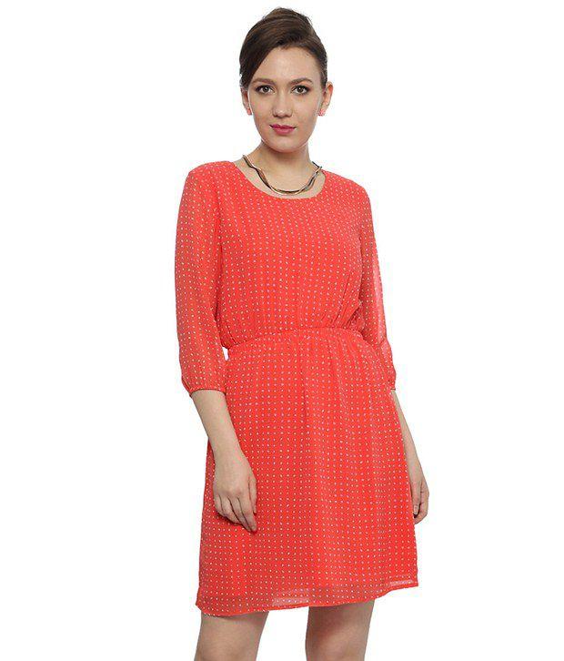 Original Myntra Van Heusen Woman Pink Sheath Dress 769098 | Buy Myntra Van Heusen Woman Dresses At Best ...