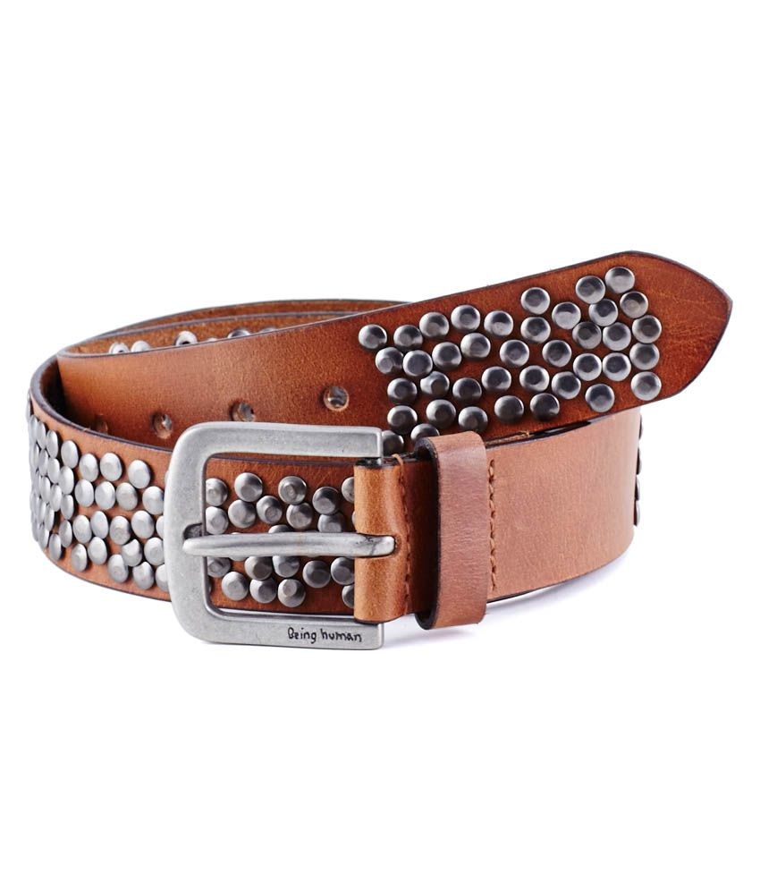 628a3c9b3200f Being Human Tan Men Belt  Buy Online at Low Price in India - Snapdeal