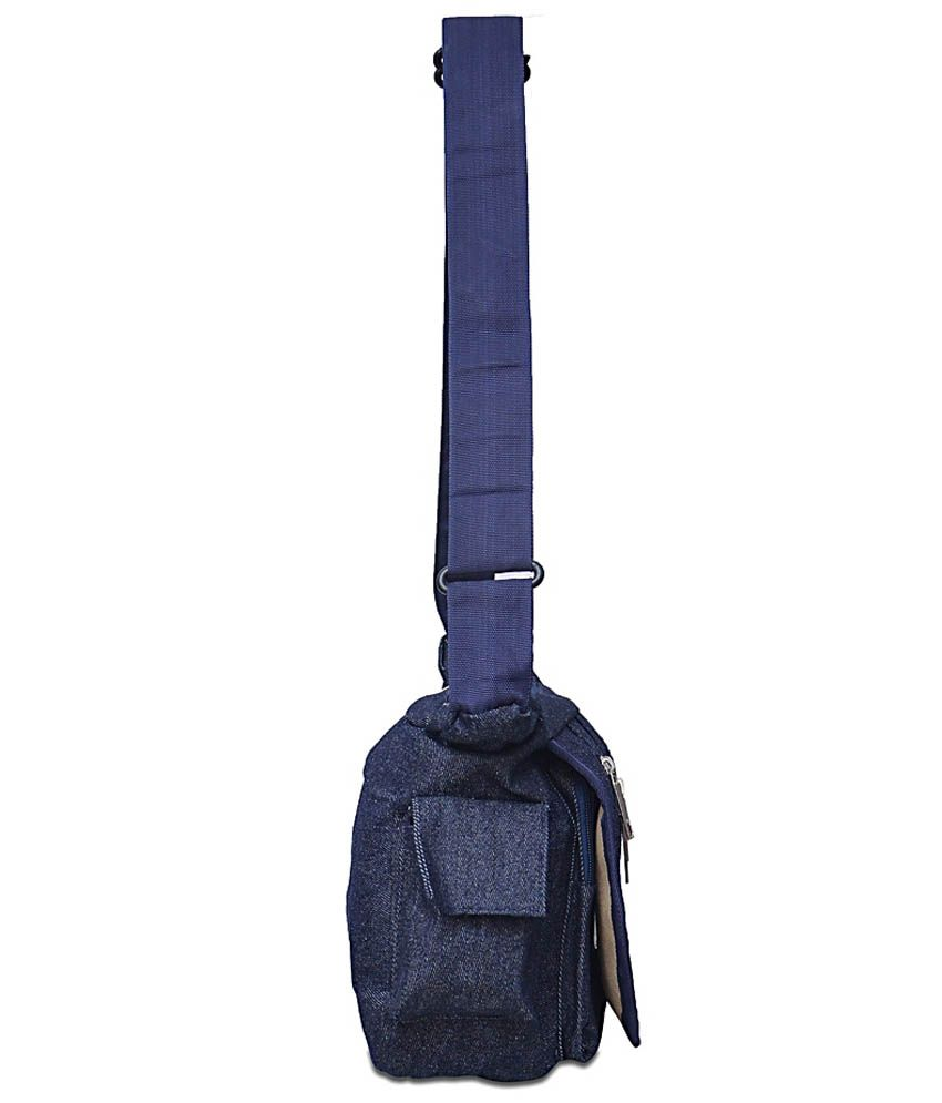 Arshia Men Casual Blue Denim Sling Bag - Buy Arshia Men Casual ...