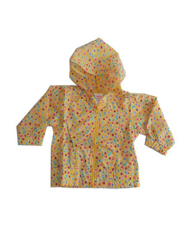 KI Yellow Synthetic Raincoat with Hood