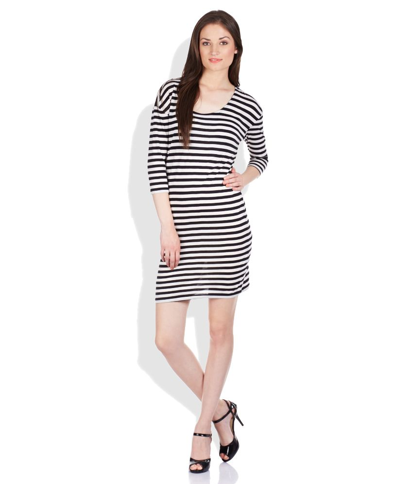 ONLY Black   White Striped Sheath Dress - Buy ONLY Black   White ... 3b1dee34c