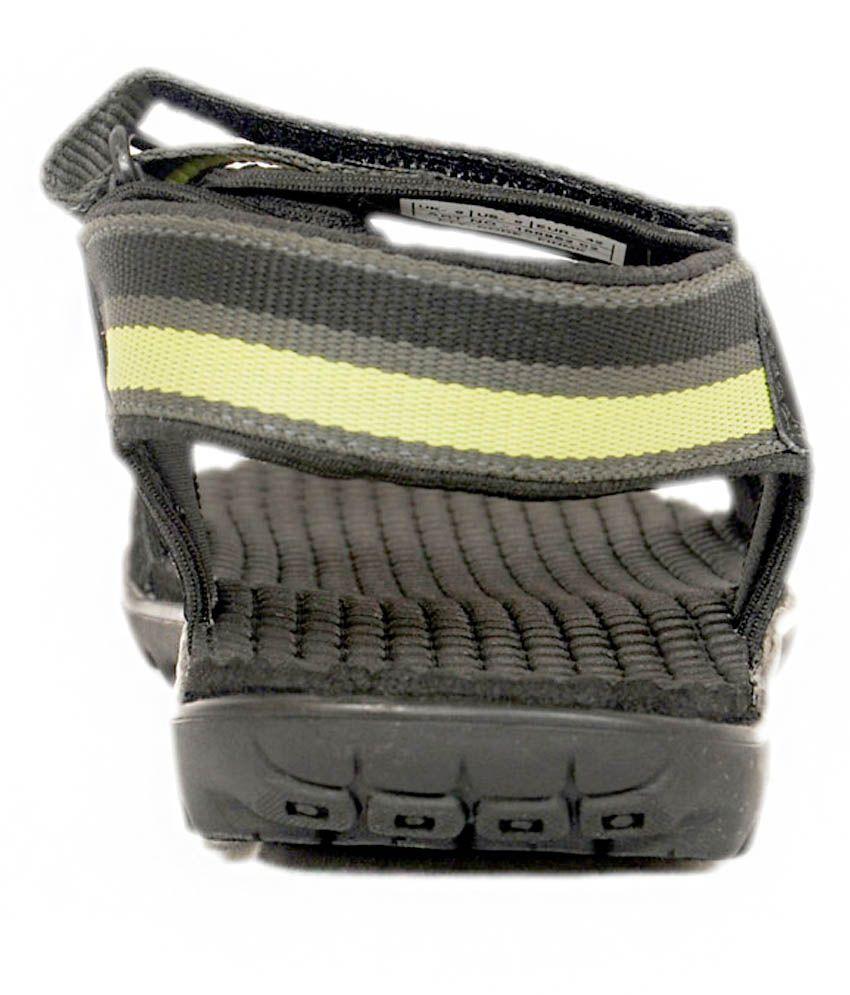 Puma black velcro sandals -  Puma Black Floater Sandals
