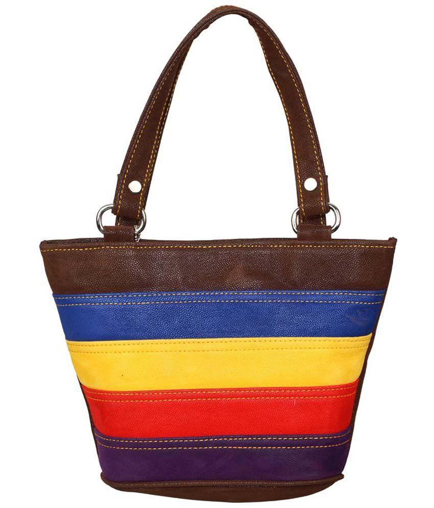 iBumpio Brown P.U. Satchel Bag