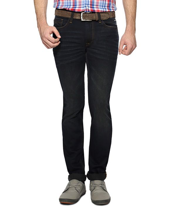 Black Dark Wash Ultra Slim Fit Jeans