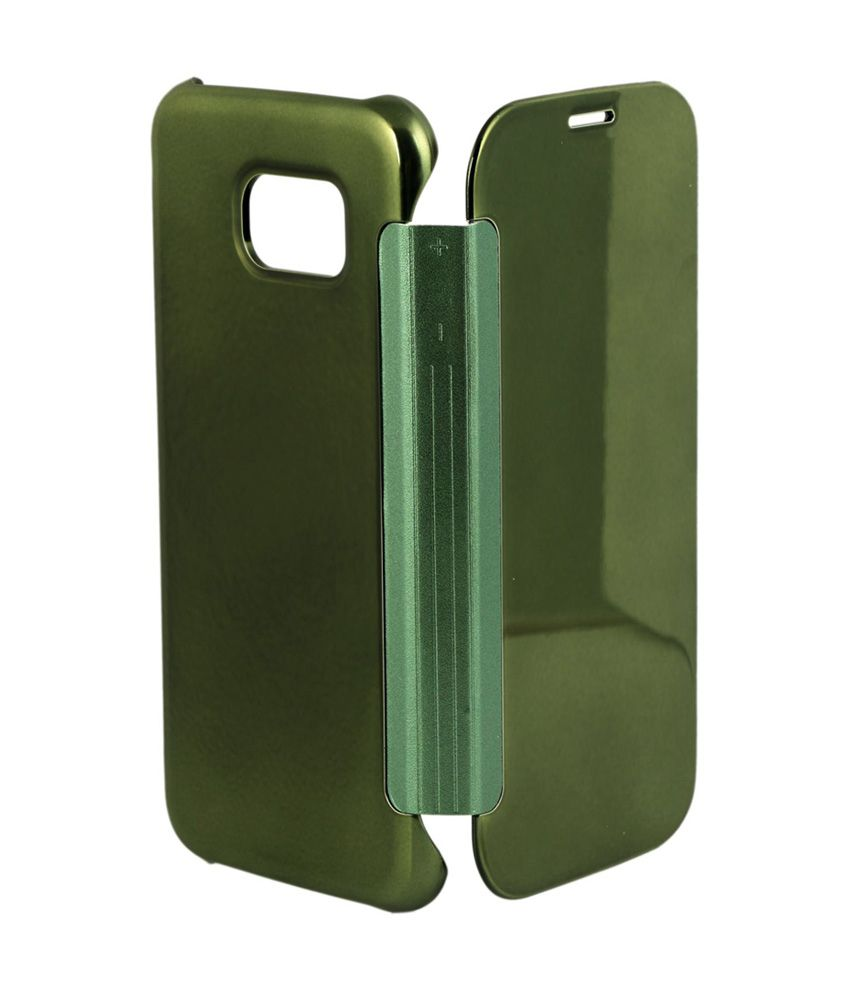 online store a3ed7 64fec CNC Clear View Cover For Samsung Galaxy S6 Edge - Green