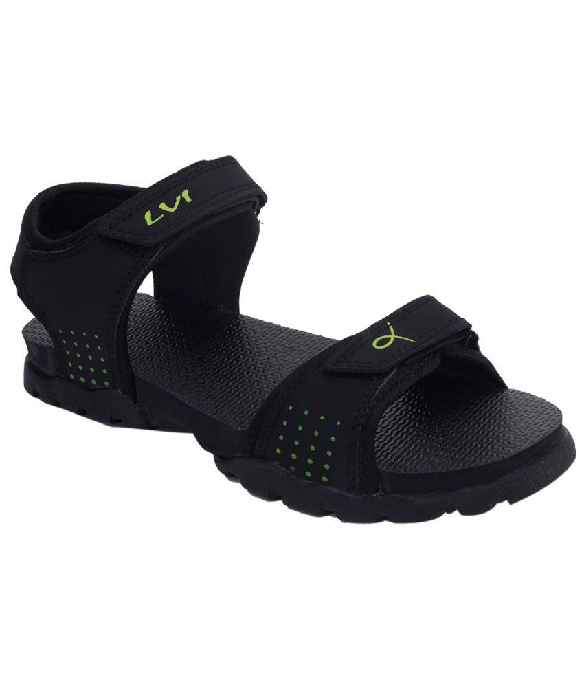 Black nubuck sandals - Lvi Black Nubuck Sandals