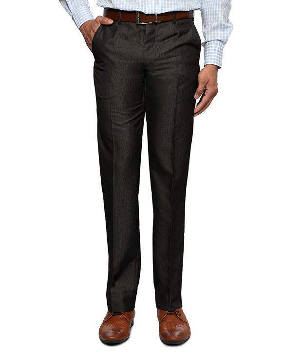 Van Heusen Black Formal Slim Fit Trousers