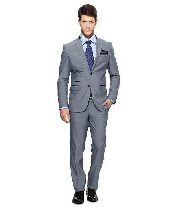 e0606eef45 Van Heusen Blue Single Breasted Formal Suit - Buy Van Heusen Blue Single  Breasted Formal Suit Online at Best Prices in India on Snapdeal