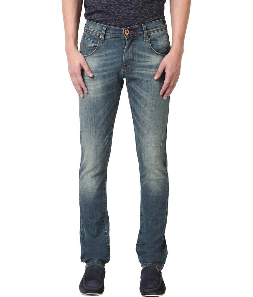 Web Jeans Blue Cotton Basics Jeans