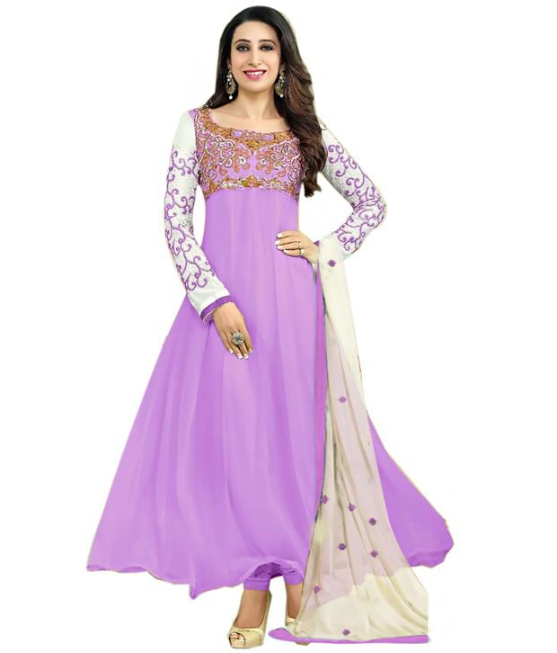 Surat Dream Light Purple Color Designer Dress Material For Anarkali Suit ...