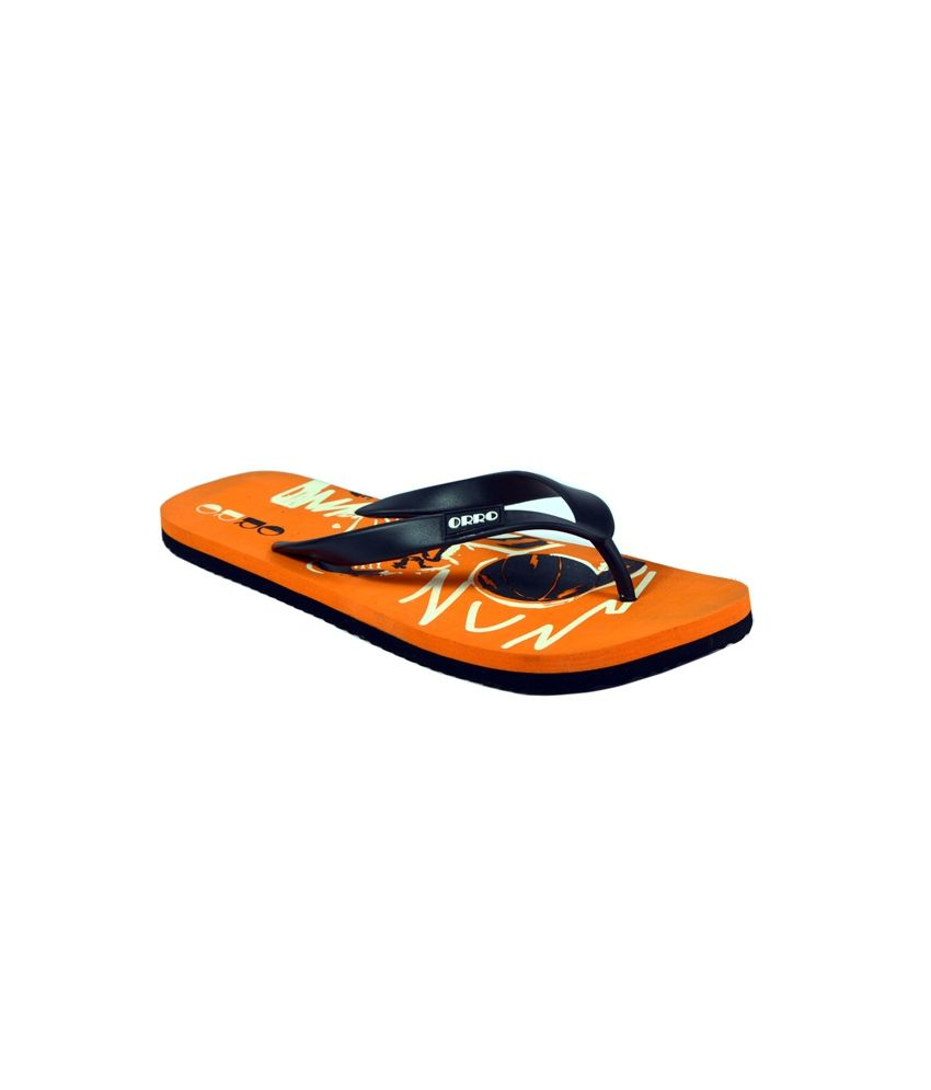 39773e61156e59 Orro Orange and Black Flip Flops Price in India- Buy Orro Orange and Black  Flip Flops Online at Snapdeal