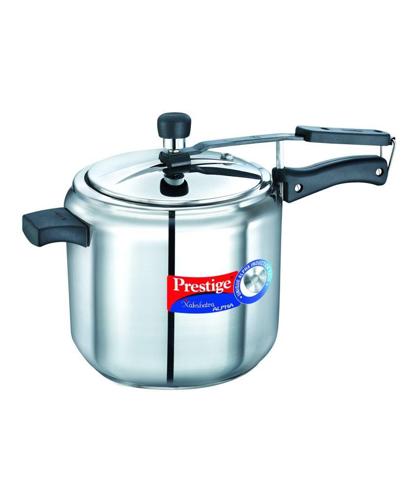 Prestige 7 Litre Nakshatra Silver Stainless Steel Alpha Pressure Cooker
