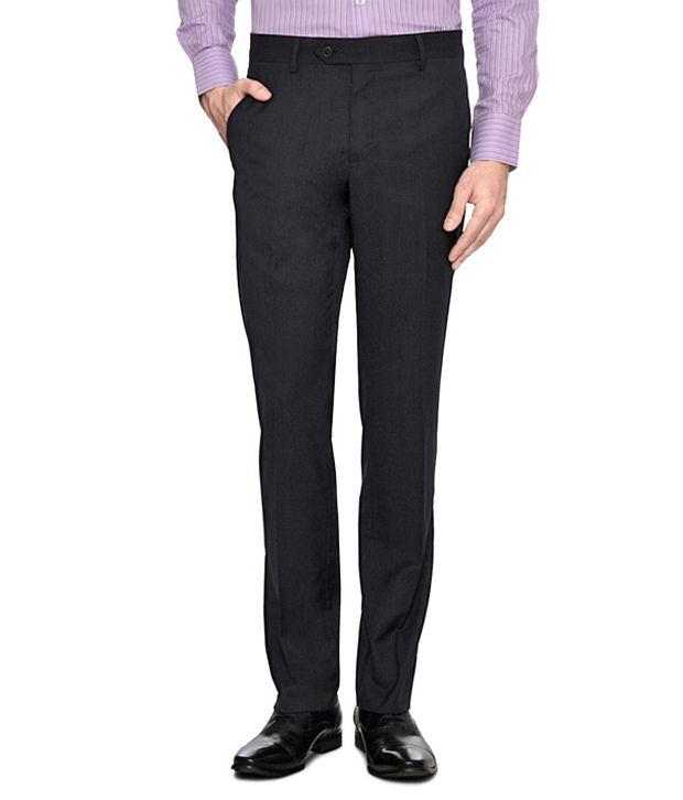 Van Heusen Black Fitted Stretch Trousers
