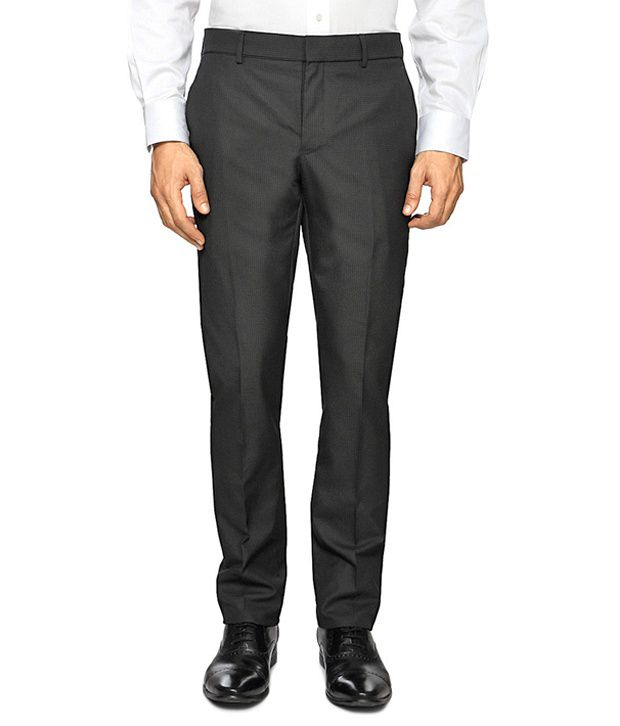 Van Heusen Black Formal Skinny Fit Trousers