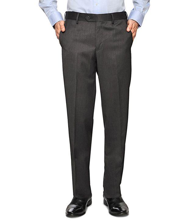 Van Heusen Brown Formal Regular Fit Trousers