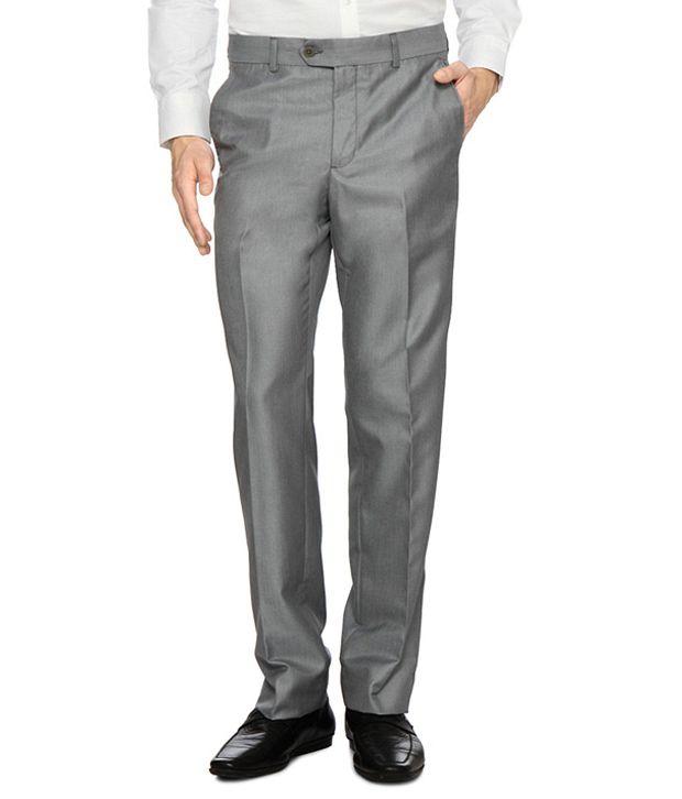 Van Heusen Light Grey Formal Trousers