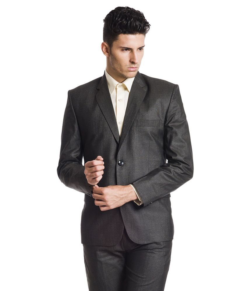 Wintage Woollen Brown Formal Single Breasted Blazer