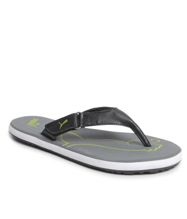 the latest cheap for discount strong packing Puma Breeze Gray V Flip Flops