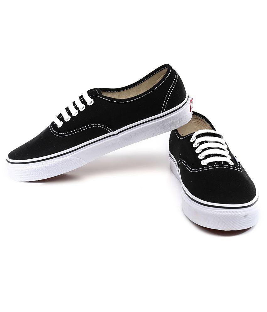 847f6766c6 VANS Black Canvas Shoes - Buy VANS Black Canvas Shoes Online at Best ...