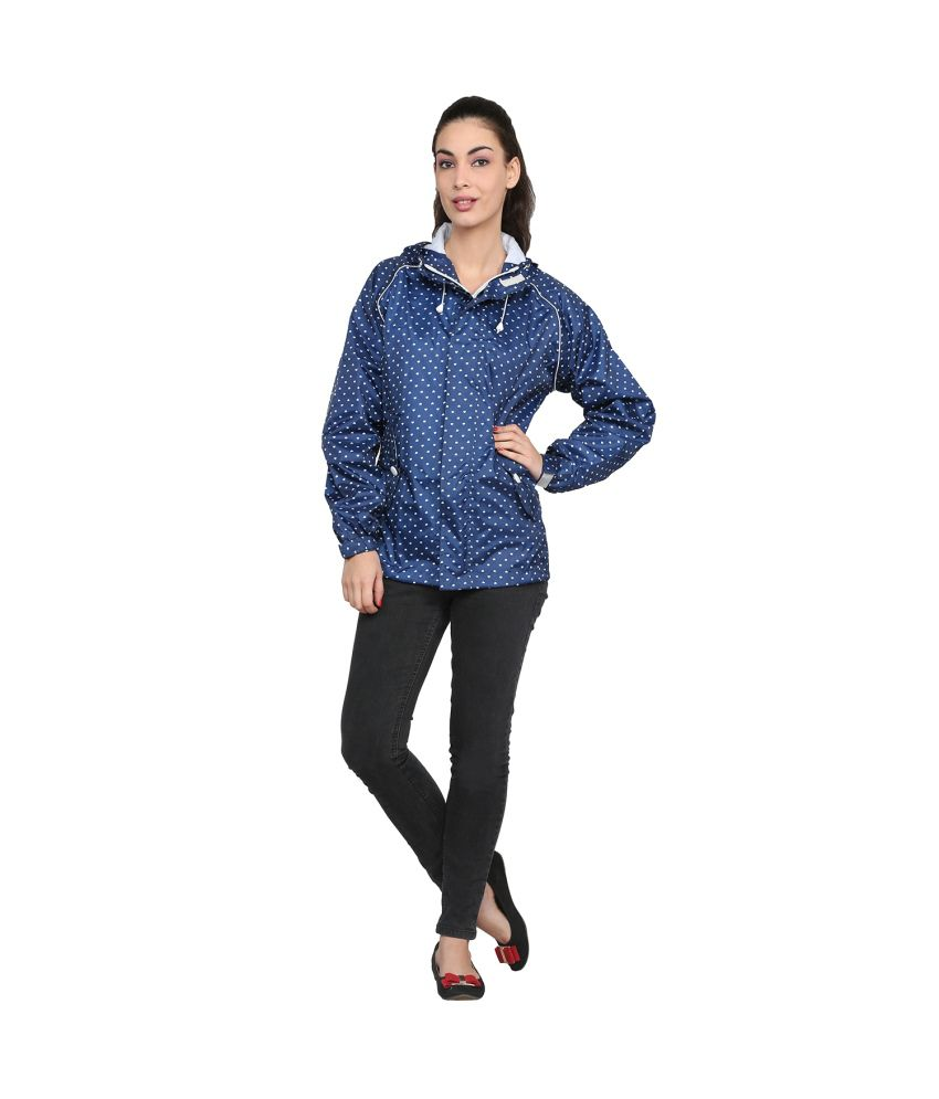 Zeel Navy Polyester Raincoat