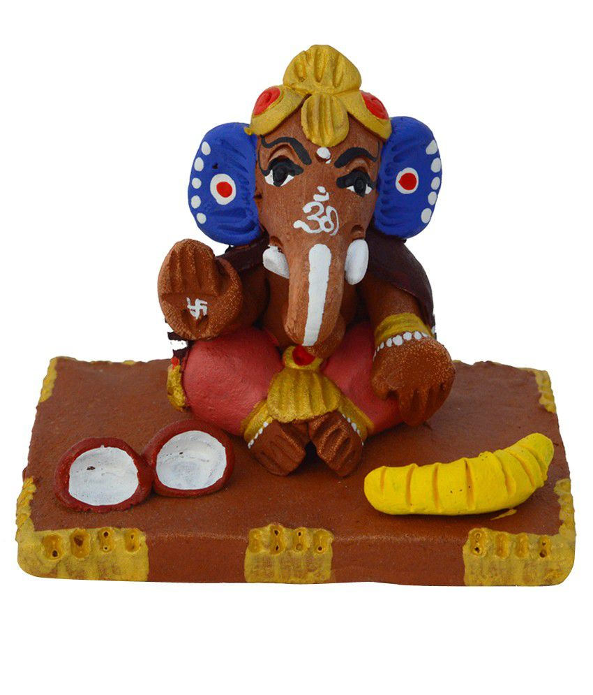 eCraftIndia Terracotta Spiritual Lord Ganesha