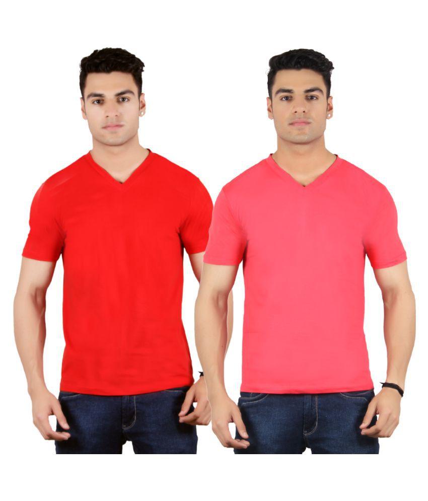 Diaz Multi V-Neck T Shirt Pack of 2