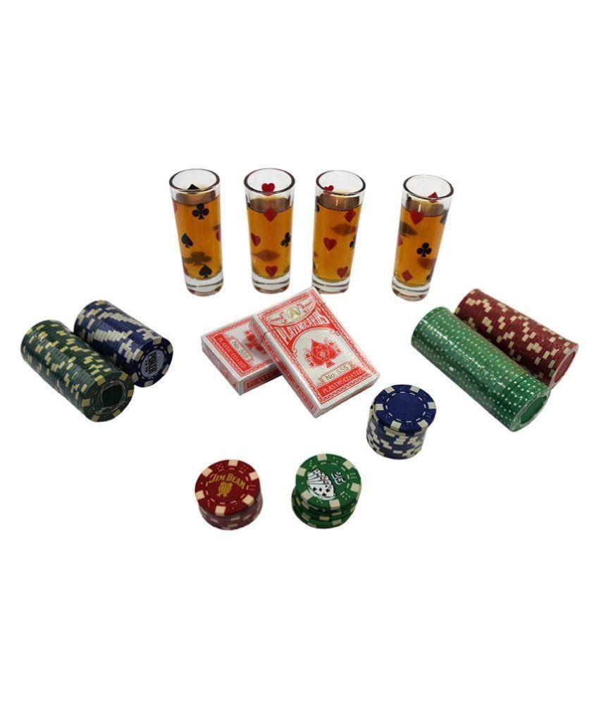 Barworld Glass Poker Drinking Game Set