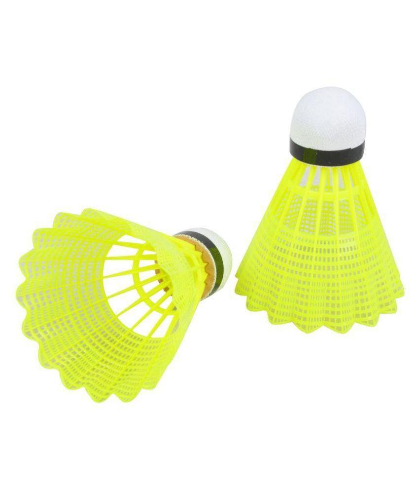 SR Yellow Nylon Badminton Shuttlecock - Pack of 10
