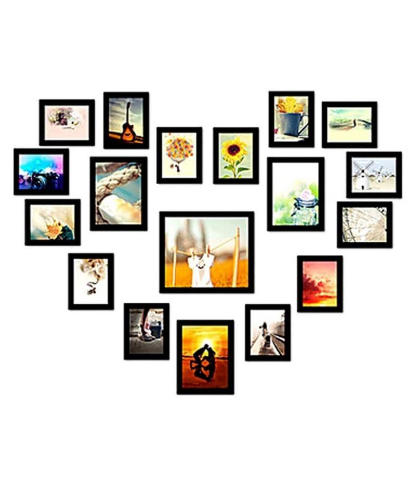 SwadesiStuff MDF Wall Hanging Black Photo Frame Sets