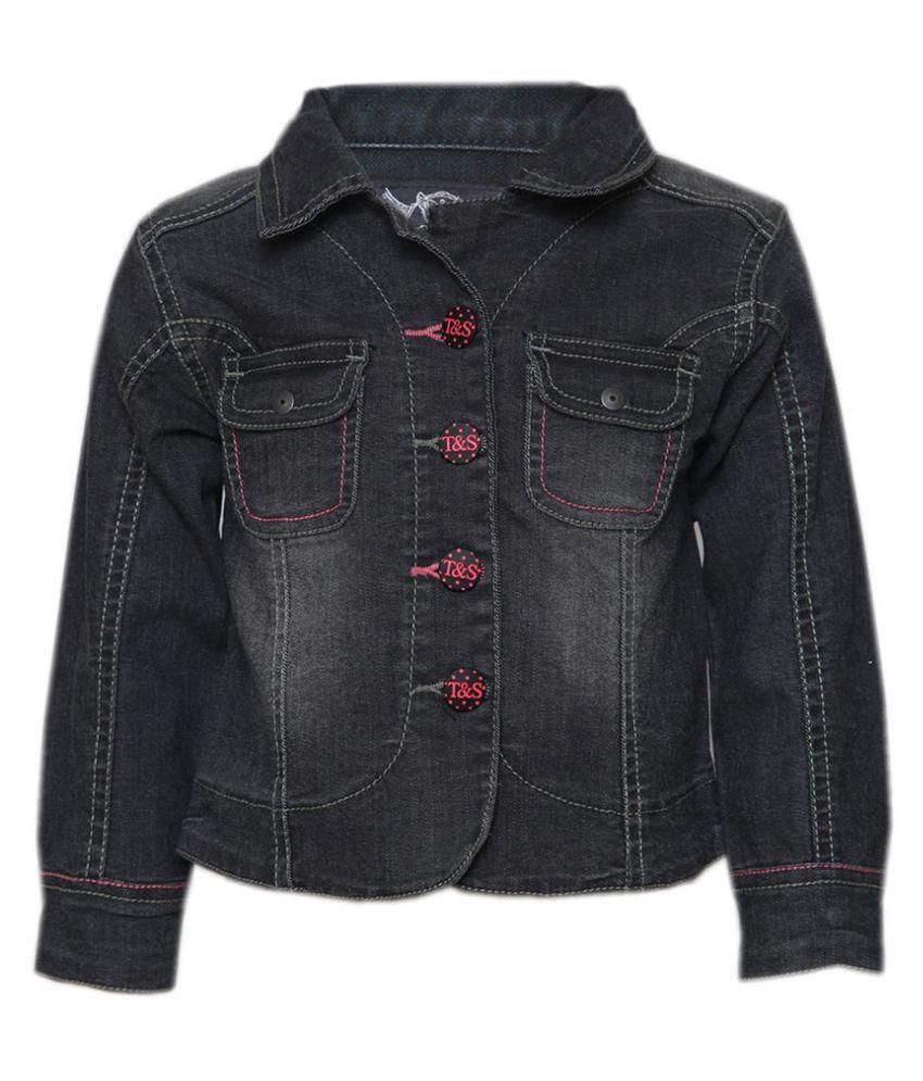 Tales & Stories Black Denim Jacket